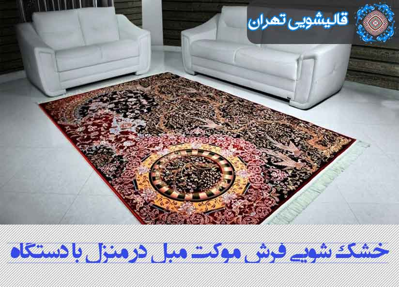 خشک شویی فرش در منزل محل